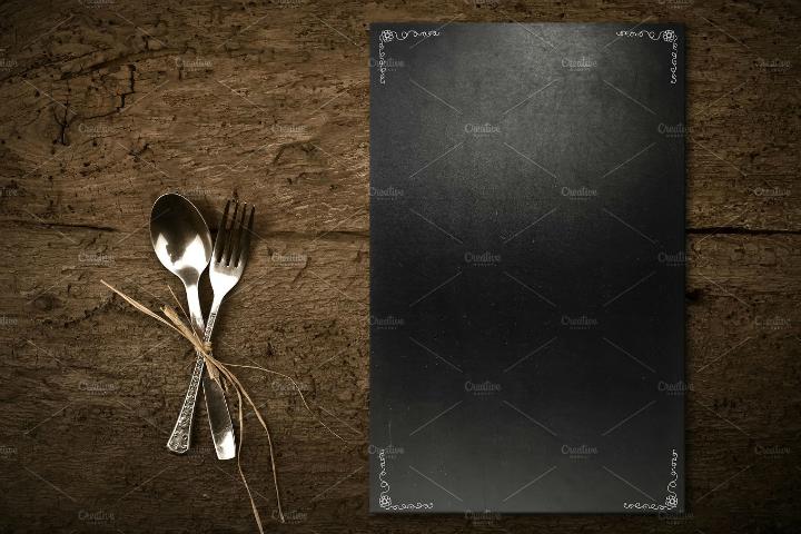 chalkboard-blank-menu-template