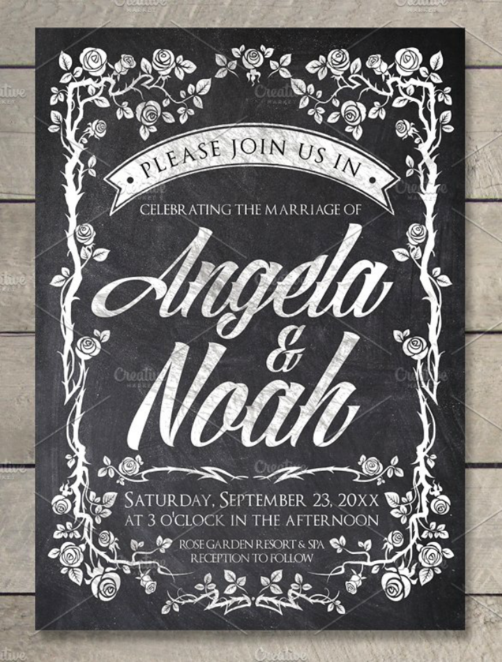 chalkboard-vintage-wedding-invitation-template