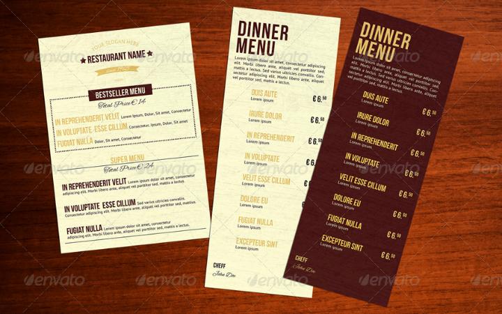 classic lunch menu template1