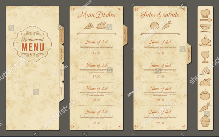 plain menu template