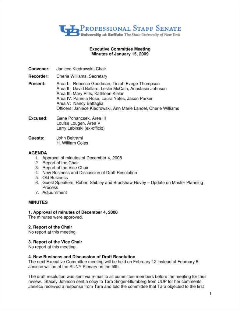 9 meeting summary templates free pdf doc format for Minute formats templates