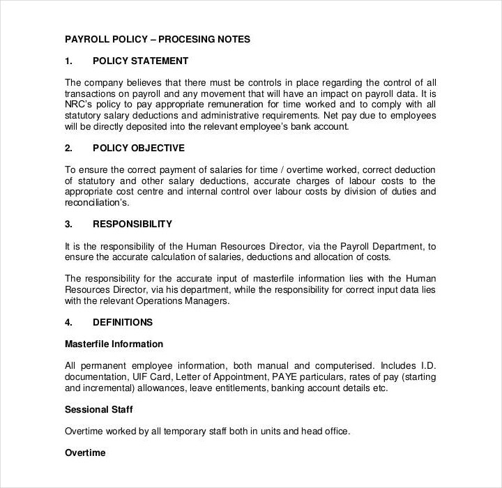 company policy manual template - 29 policy templates in pdf free premium templates