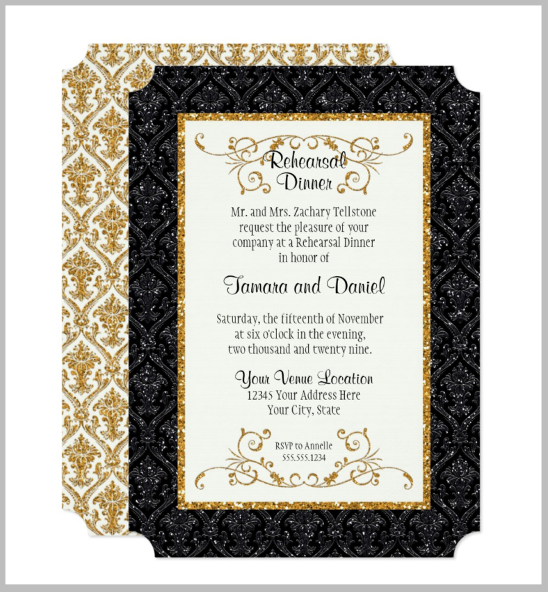 damask-rehearsal-dinner-ticket-template