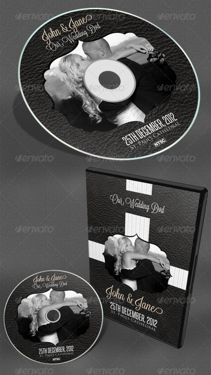 dark vintage wedding dvd cover template