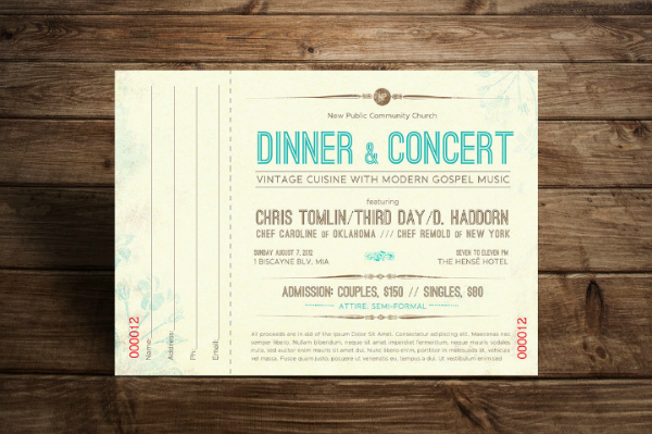 dinner concert ticket template featured img