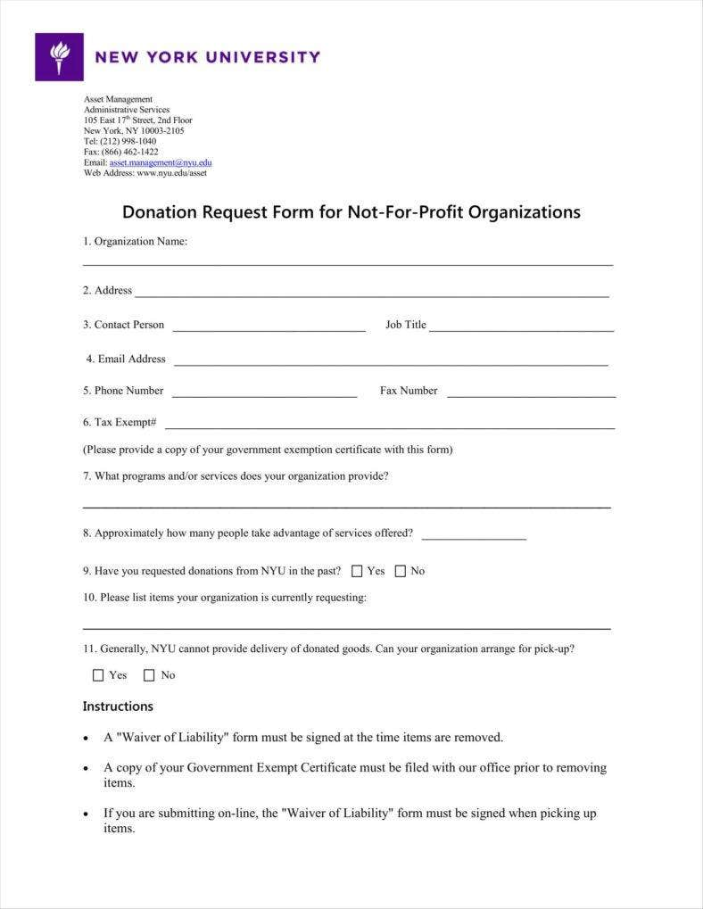 9+ Donation Application Form Templates Free PDF Format Download ...