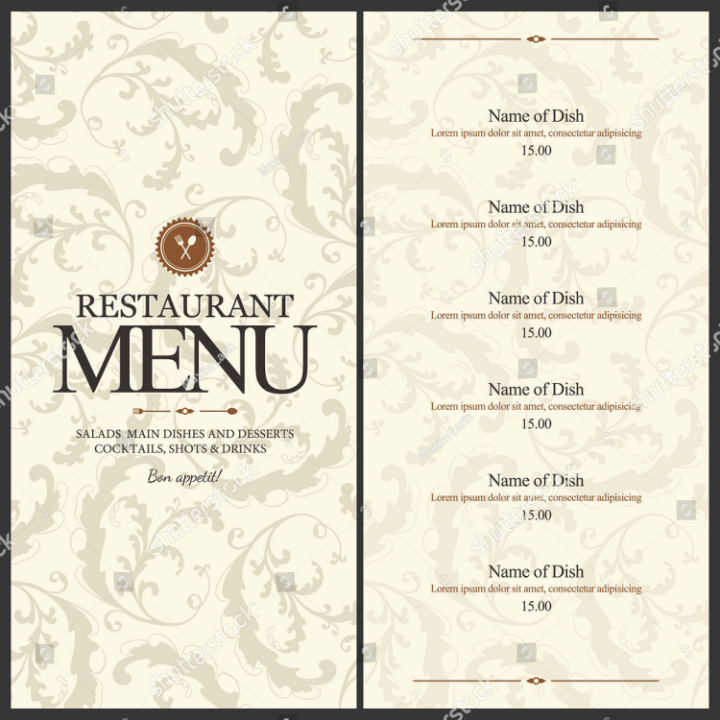 Blank Dinner Menu Template Suyhi Margarethaydon Com