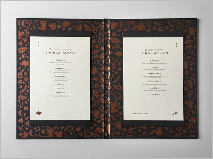 elegant dinner menu design