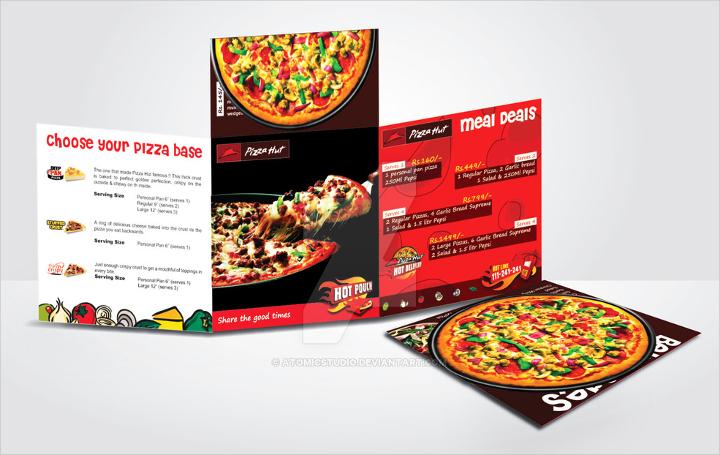 Elegant Pizza Menu