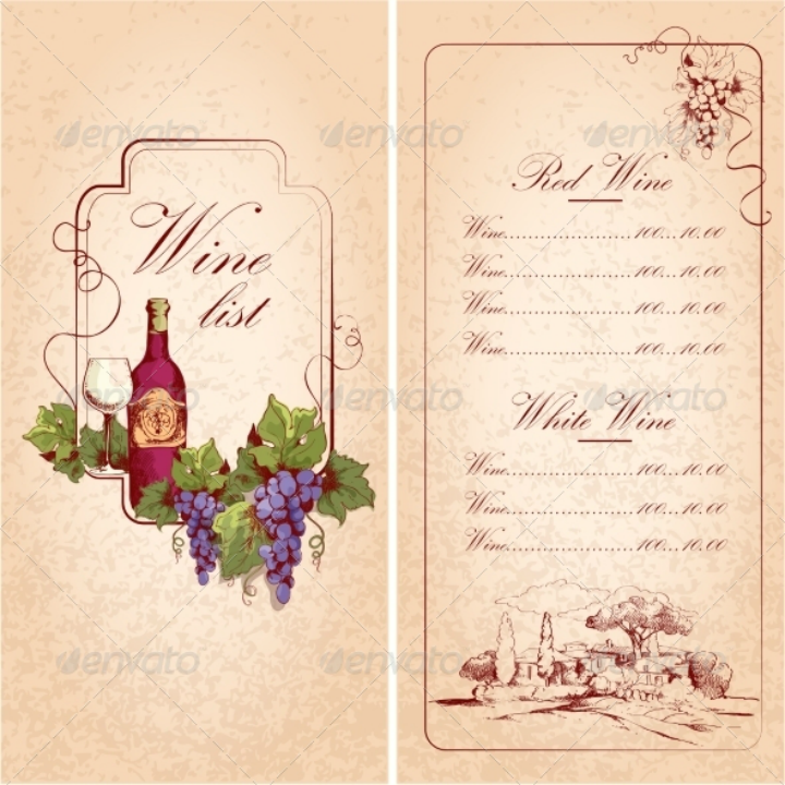 15+ Wine Menu Designs - Editable PSD, AI Format Download | Free ...