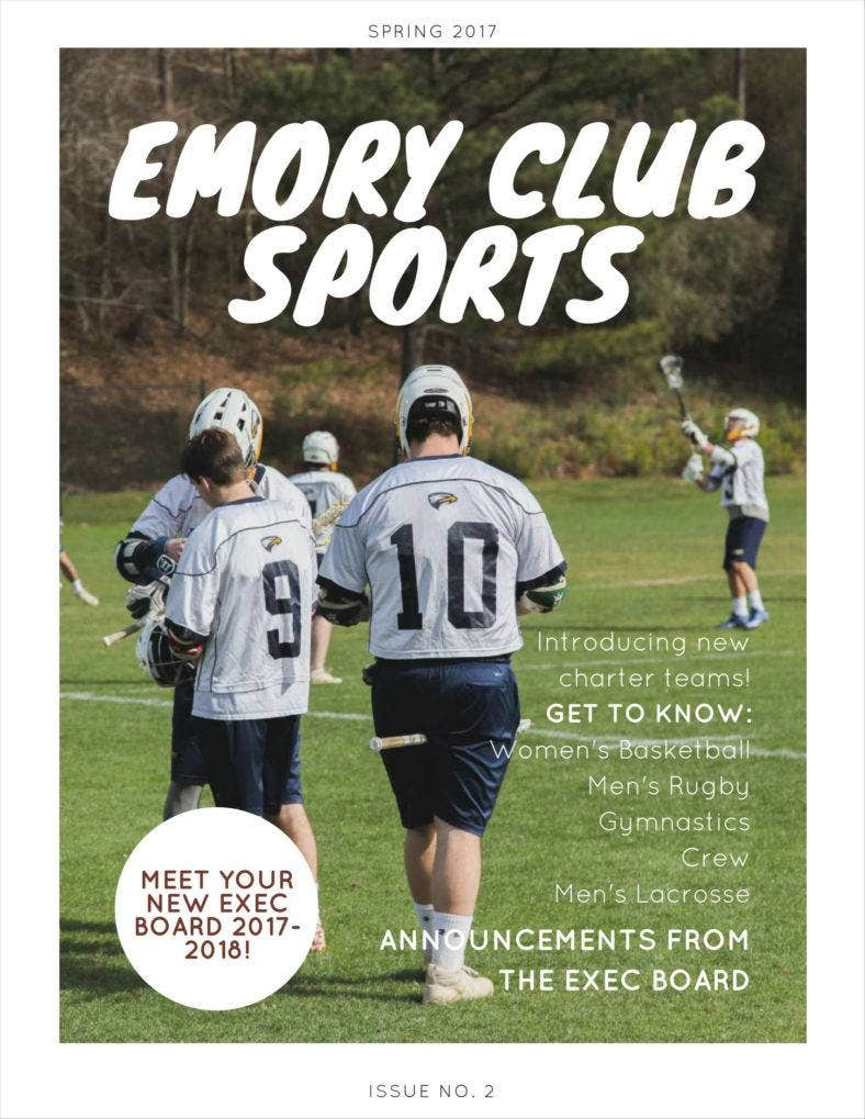 emory club sports newsletter issue 2