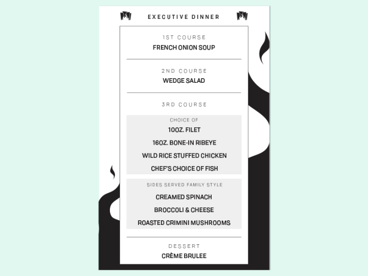 executive-dinner-menu-design