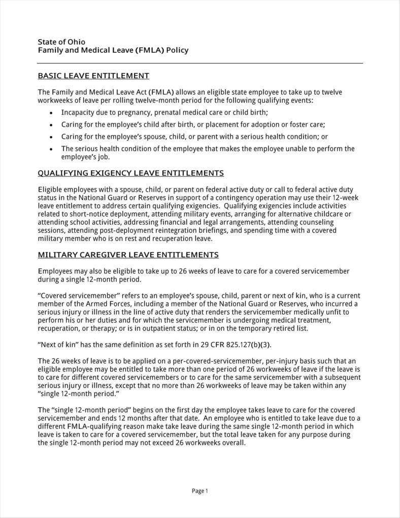 9+ Leave Policy Templates - Free PDF, Word Format Download | Free ...