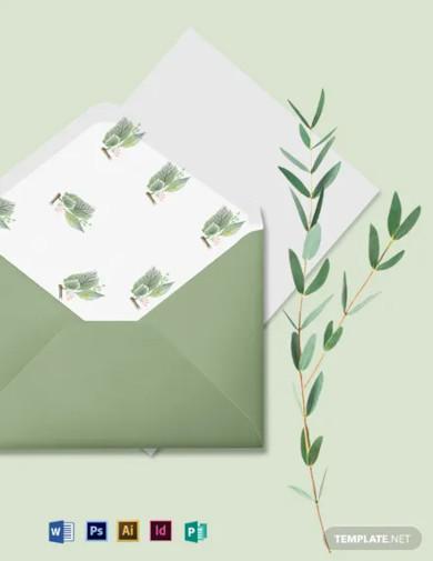 fall wedding envelope template