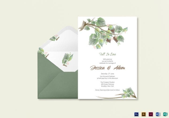 fall wedding invitation card template e1509614056688
