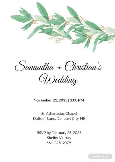 fall wedding invitation rsvp template