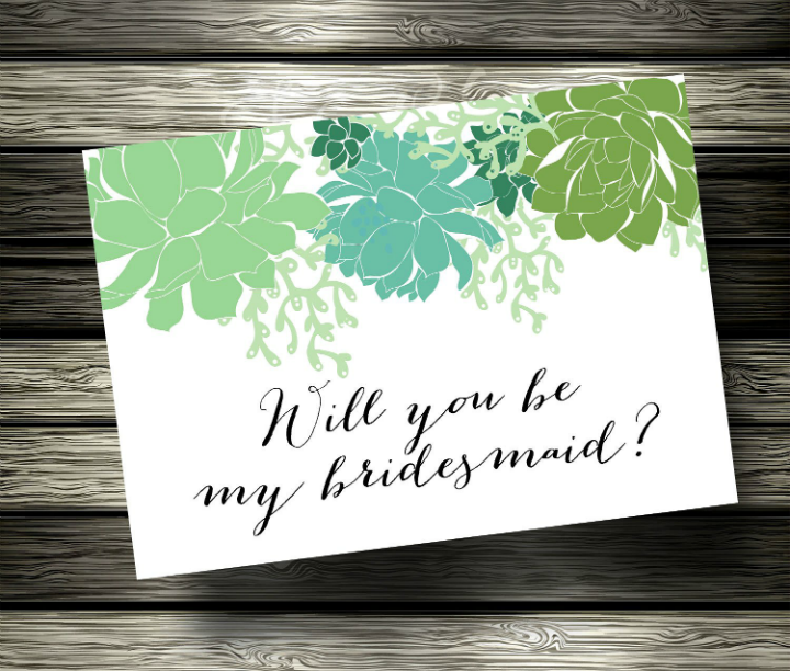 floral-bridesmaid-card-template