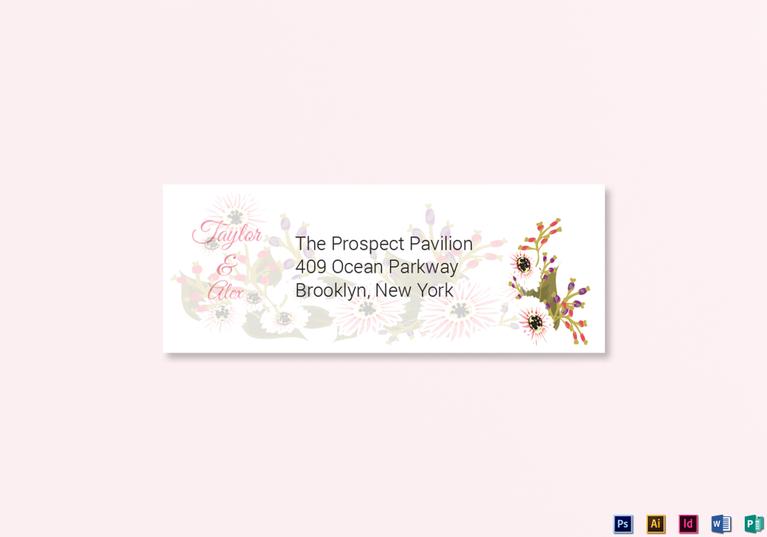 Floral Wedding Address Labels