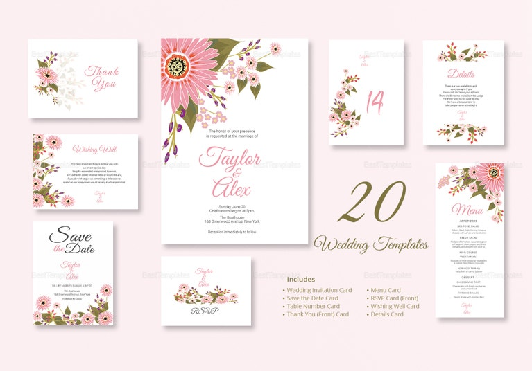 35 floral wedding templates editable psd ai format download floral wedding package stopboris Image collections