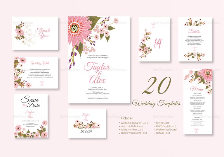 35+ Floral Wedding Templates - Editable PSD, AI Format Download ...