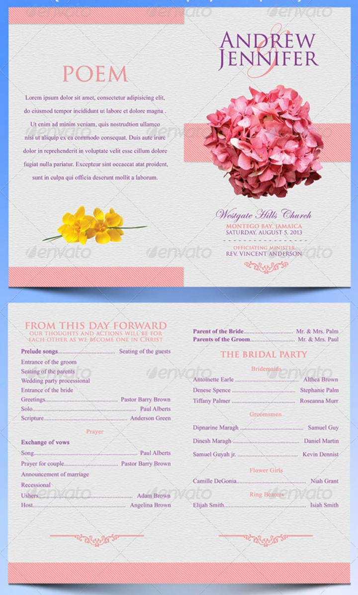 flowery-wedding-program-template