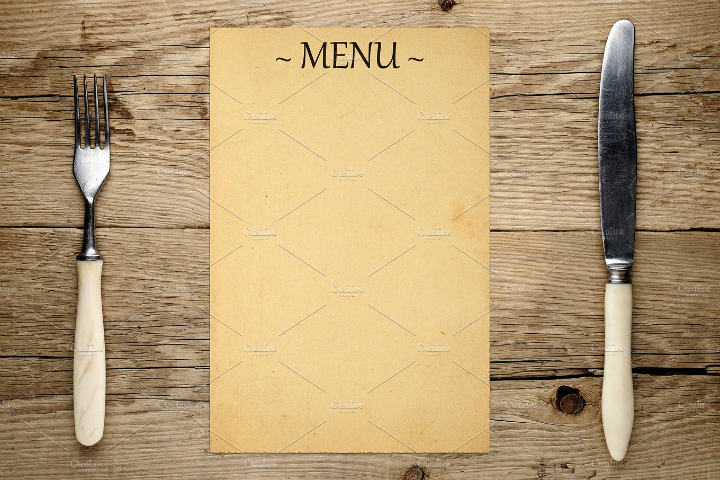 fork-and-knife-blank-menu-template