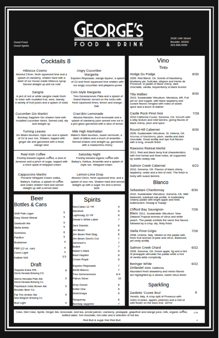 Free Drink Menu Template sample of sales invoice employee to do – Cocktail Menu Template Free Download