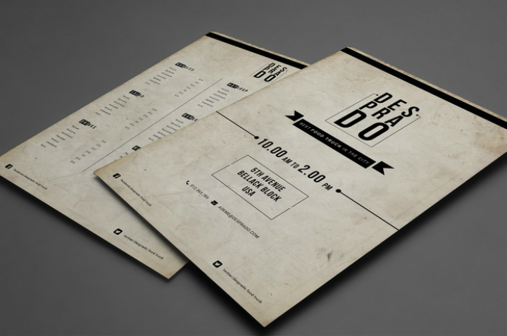 free-food-truck-menu-template