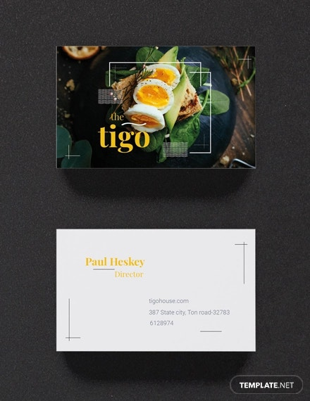 free restaurant business card template