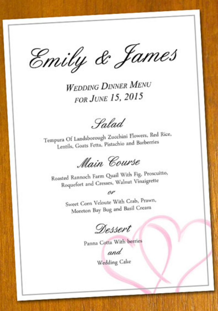 free-sample-wedding-menu-template