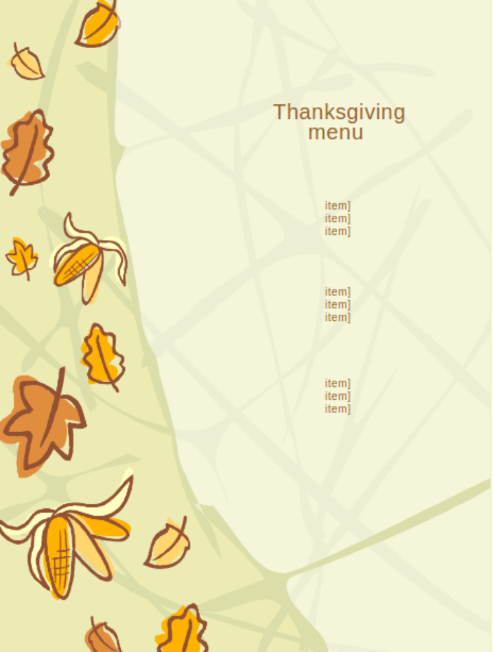 free-thanksgiving-menu-template