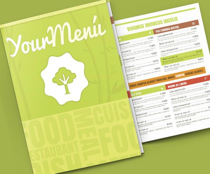 free vegetables menu psd template