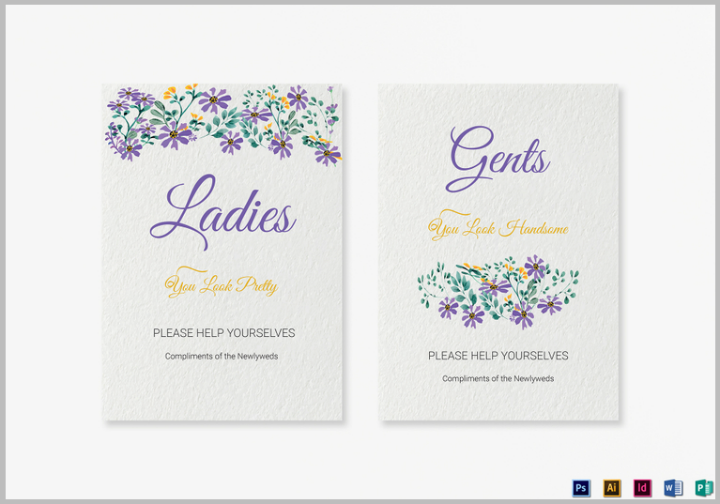 garden-wedding-bathroom-signs-template