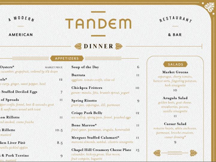 gold dinner menu design