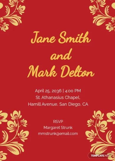 gold floral wedding invitation template1