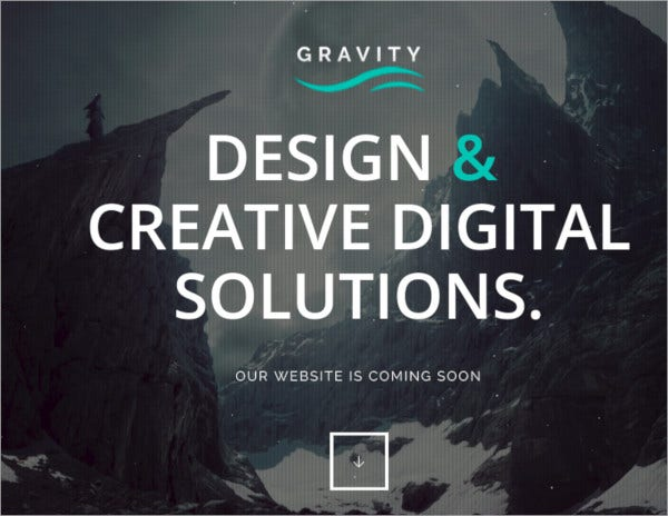 gravity coming soon bootstrap theme