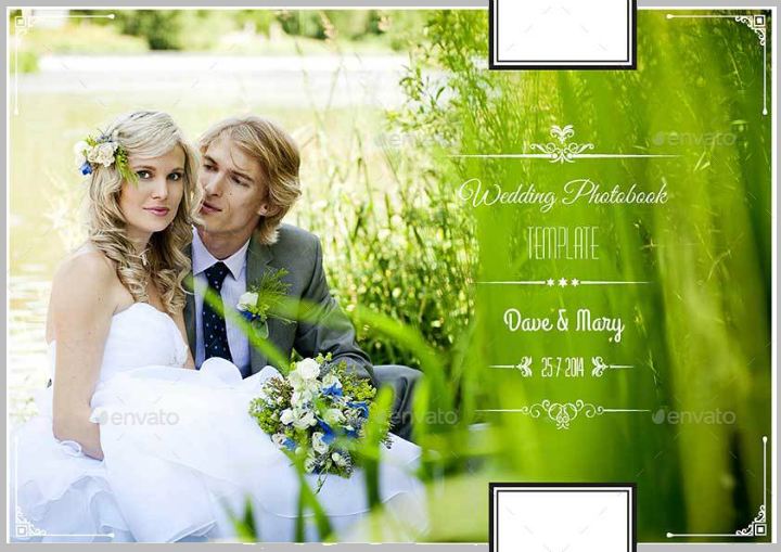 greenery vintage wedding photobook template