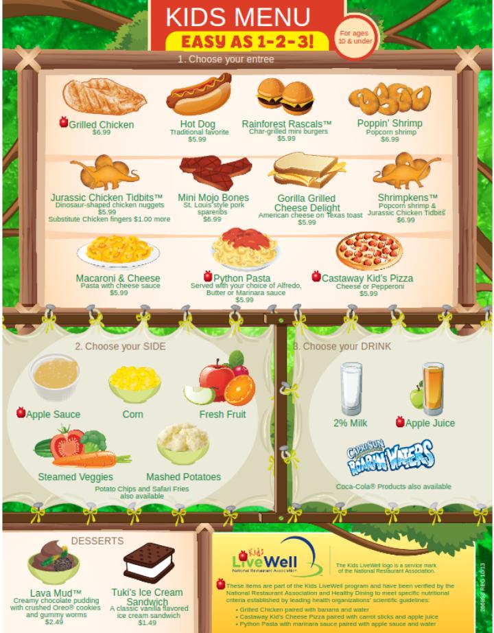 illustrated kids menu template