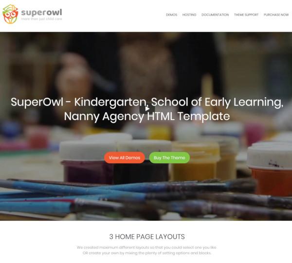 kindergarten school agency html template