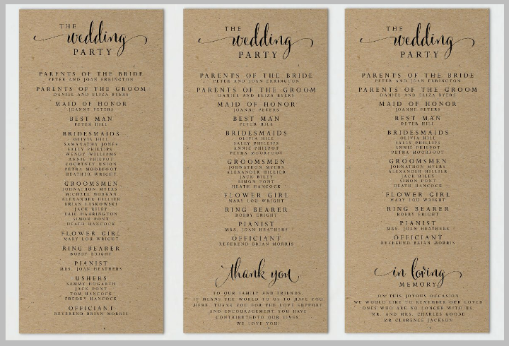 kraft-paper-wedding-program-template