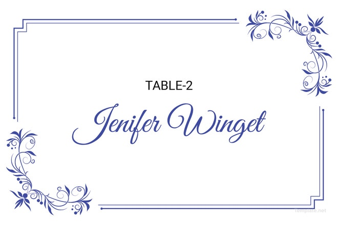 Table Place Card Template Updeta