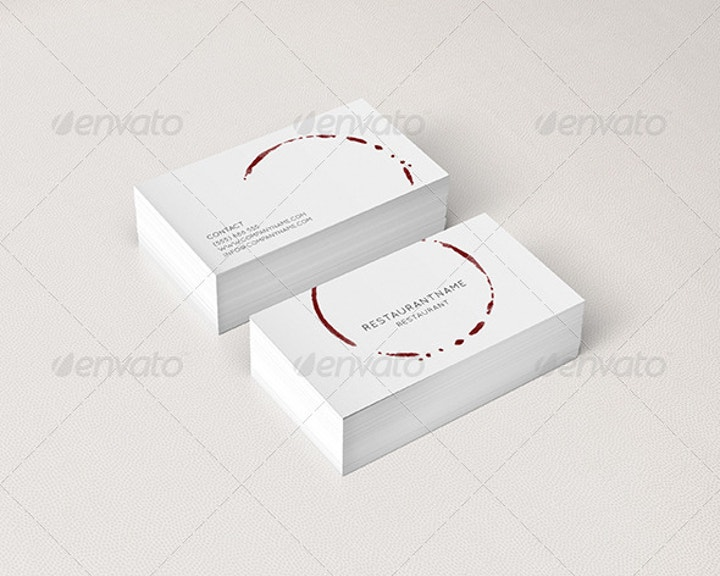 Minimalist Restaurant Business Card
