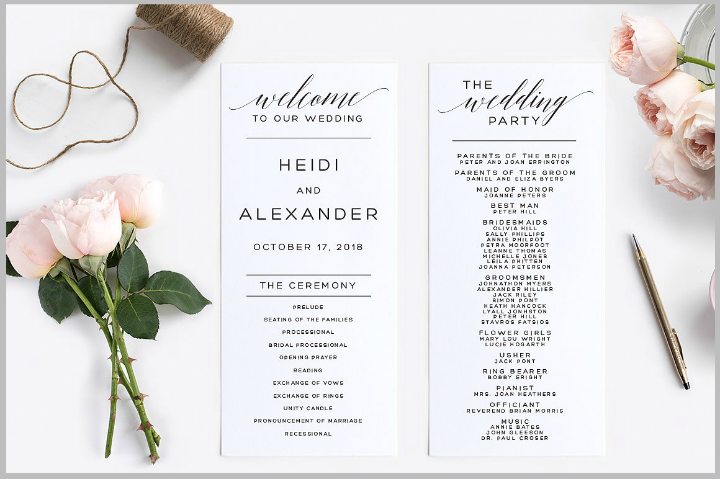 minimalist-wedding-program-template
