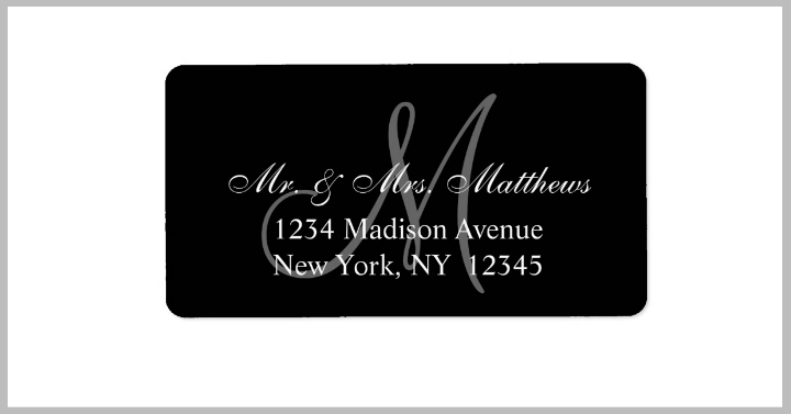 monogram-wedding-address-label