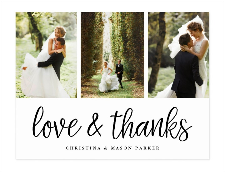 Multi-photo Wedding Thank You Postcard