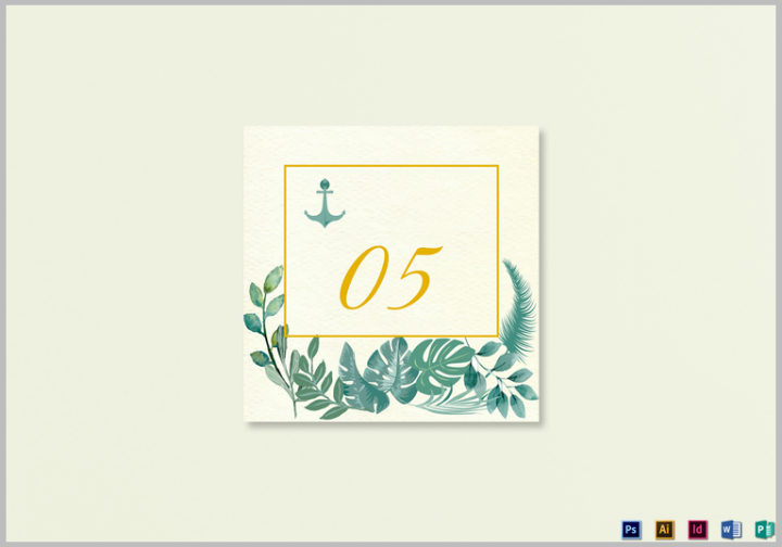nautical-table-card-template