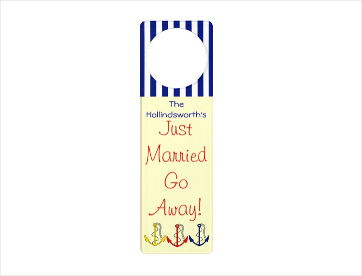 Nautical Wedding Door Hanger