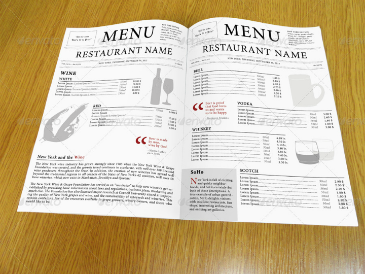 27+ InDesign Menu Templates | Free & Premium Templates