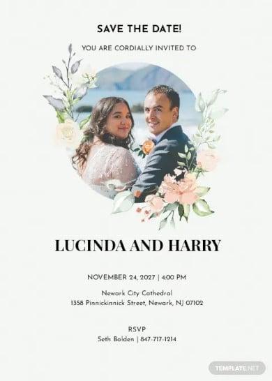 photo save the date invitation template