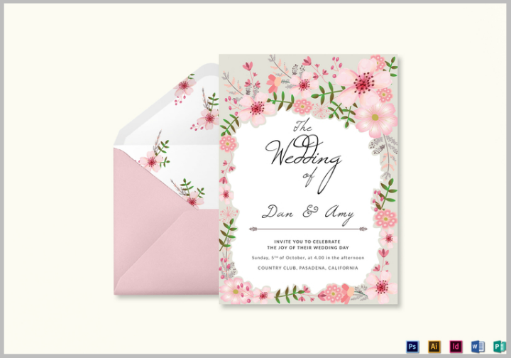 Wedding Invitation Card Sample: 35+ Floral Wedding Templates
